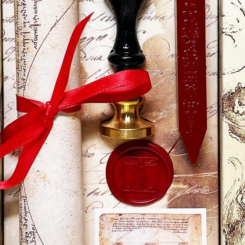 シーリングスタンプの指輪。ルネサンスの紋章などオリジナル封蝋指輪です
